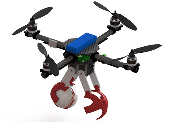 Quadrotor to throw the first pitch at a Phillie's game